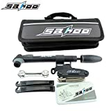 Sahoo Bicycle Tire Repair Tools Set, 16 in 1 Updated Version Bike Cycling Multifunction Cycle Maintenance Complete Kits Accessories with Patches Levers Pouch Glue Mini Portable Pump