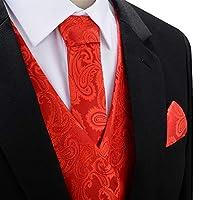 SuiSional Mens 4pc Classic Paisley Suit ...