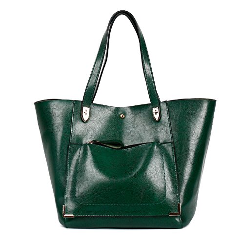 Bags Bags Tote Dark Bags Women Bags Handbags Shoulder Leather Green Large Traveling Capacity PU Ephraim Shopping CqEPRw4