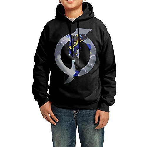 YHTY Youth Boys/Girls Hooded Sweatshirt Static Tv Poster Black Size L