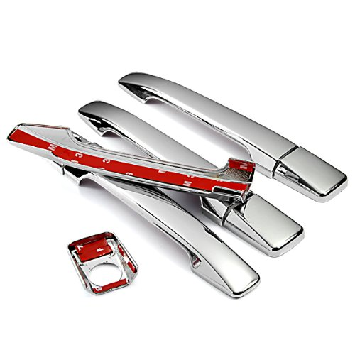 Mirror Chrome Side Door Handle Covers Trims For Mercedes-Benz 85-95 W124 E-Class 83-93 W201 C-Class E420 260E 190E 190D 1983 1984 1985 1986 1987 1988 1989 1990 1992 1993 1994 1995 Brand