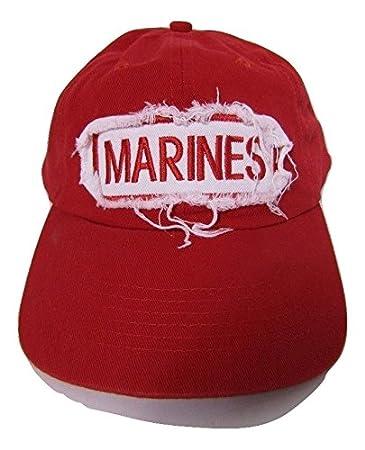 Amazon com: AES USMC Marines Marine Corps Red Patch Distressed