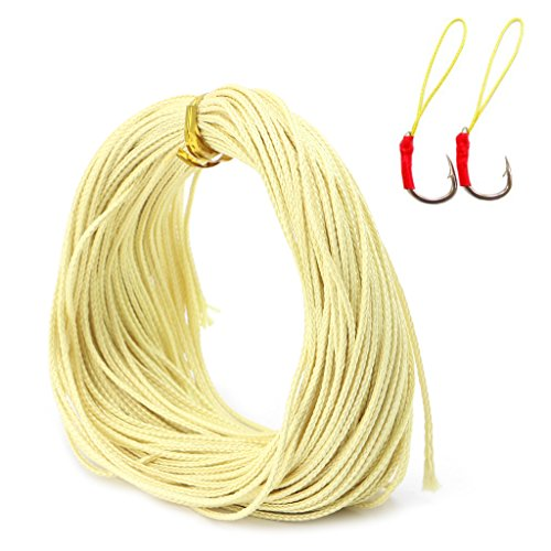 ULKEME 1.1mm Braided Kevlar Line Kite String To The Outdoor Sport Camping Fishing Line -