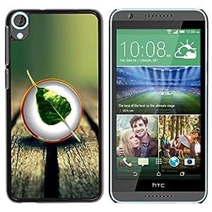 Be Good Phone Accessory // Dura Cáscara cubierta Protectora Caso Carcasa Funda de Protección para HTC Desire 820 // Nature Wood Leaf Tree