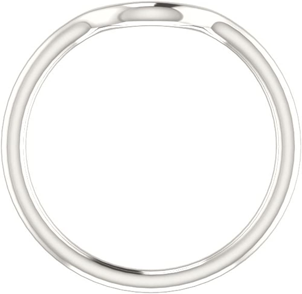 Bonyak Jewelry Continuum Sterling Silver Band for 4.1 mm Round Size 7