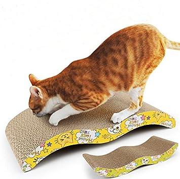 Rascador para gatos corrugado para tabla de arañazos, alfombrilla de cama para cuidado de gatos, gatos, mascotas, gatos, juguete duro reciclado onda.