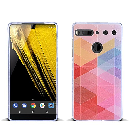 (Essential Phone Case, KTtwo [Lightweight] [Shockproof] [Drop Protection] Special 3D Relief Printing Pattern Design Silicone Soft TPU Cover Case for Essential Phone PH-1 (Colored Plaid))