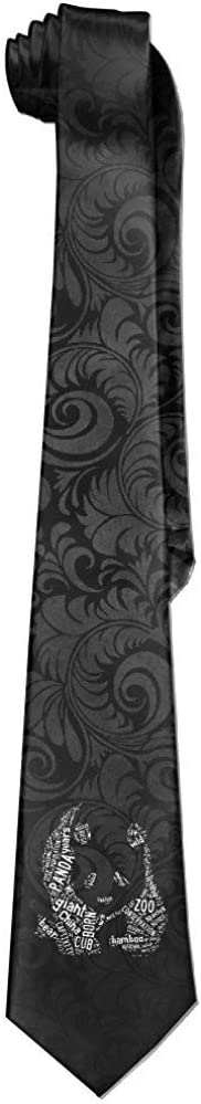 Stampa parole Cloud Panda Graphic Cravatta da uomo in stile casual cravatta