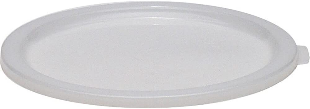 Cambro Large 6 and 8 qt. Lid for Poly Round Containers, 12PK White RFSC6-148