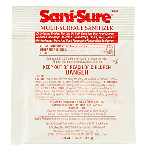 Diversey Sani-Sure Multi-Surface Sanitizer (.125-Ounce, Case of 100) 0.125 Ounce Spot
