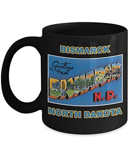 (Bismarck North Dakota Postcard Large Letter Mug )