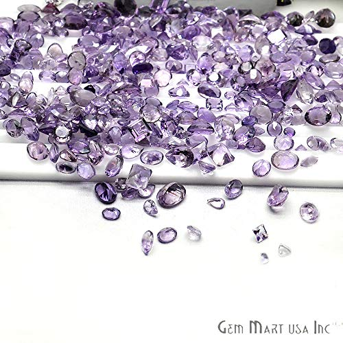 Wholesale 50cts mix Amethyst,Loose Faceted Stones, Amethyst Mix (AA-60001)