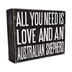 JennyGems All You Need is Love and an Australian Shepherd - Stand Up Wooden Box Sign - Australian Shepherd Home Decor - Aussie Sheperd Decorations and Accessories - Dog Artwork, Queensland, 8