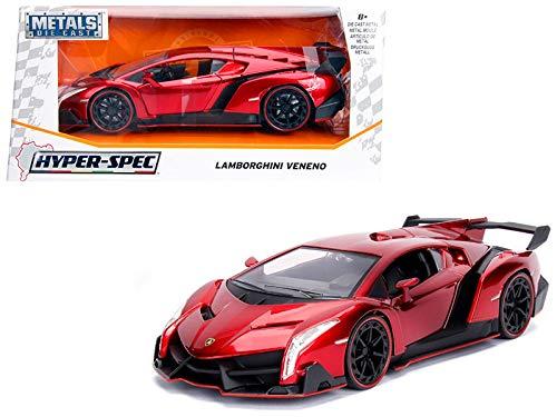Jada 1: 24 Hyper-Spec - Lamborghini Veneno (Candy Red) ()
