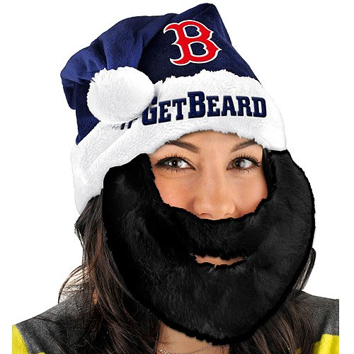 FOCO Boston Red Sox Santa Hat With Beard - Get Beard Boston Red Sox Santa Hat