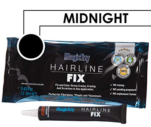 MagicEzy Hairline Fix (Midnight) - Boat Gelcoat Crack Repair - Fills And Colors - Chip Fix