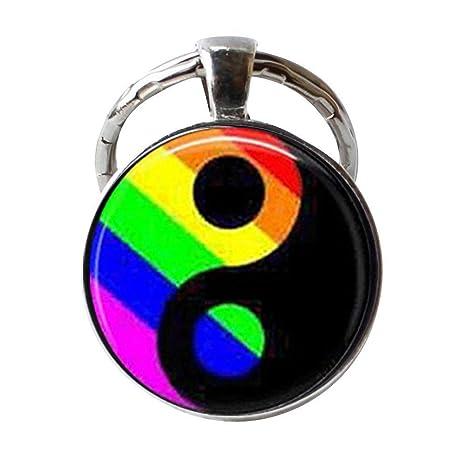 LGBT Gay Pride Jewelry Ying Yang llavero, regalo de amigos ...
