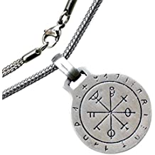 Key of Solomon Pentacle Jupiter Protection Talisman pewter Pendant stainless steel chain necklace
