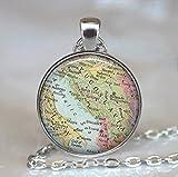 Yugoslavia map necklace, Yugoslavia map pendant, Slovenia, Croatia, Serbia map necklace, map jewelry map