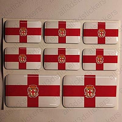 Pegatinas Almeria España Resina, 8 x Pegatinas Relieve 3D Bandera ...