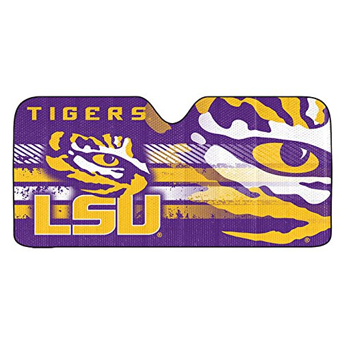 NCAA LSU Tigers Sun Shade Color: Louisiana State University Tigers, Model: 681620177305, Car & Vehicle Accessories / - Mall Of Louisiana The