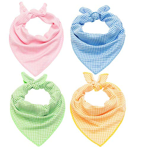 - SCIROKKO 4 Pcs Dog Instant Cooling Bandana Chill Out Scarf Ice Towel Pet Wrap for Puppy Cats in Summer