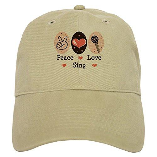(CafePress - Peace Love Sing Cap - Baseball Cap with Adjustable Closure, Unique Printed Baseball)