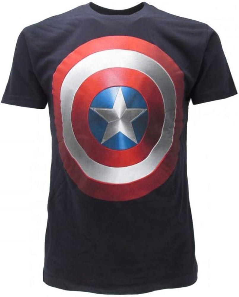 XL Official Captain America T-Shirt Uomo
