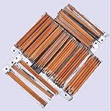 Arts & Crafts : Ostart 5 Sets of 15 Sizes 8'' (20cm) Double Pointed Carbonized Bamboo Knitting Kits Needles Set (2.0mm - 10.0mm)