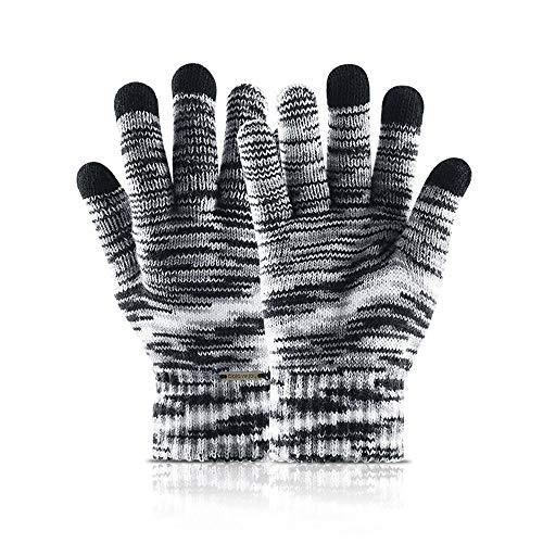 XXJKHL 1 Pair Winter Gloves Knit Mitten Anti-Slip Touch Screen Gloves Wool Magic Warm Gloves for Women Men