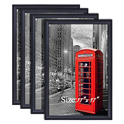 PETAFLOP 11x17 Poster Frames Black Wall Mounting Picture Frame for