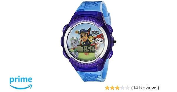 Amazon.com: Nickelodeon Kids PAW4039 Paw Patrol Digital Display Quartz Blue Watch: Watches