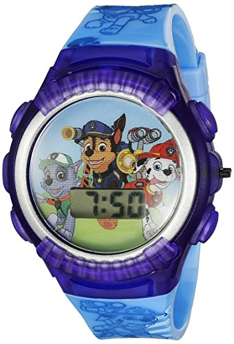 Nickelodeon Kids' PAW4039 Paw Patrol Digital Display Quartz Blue Watch