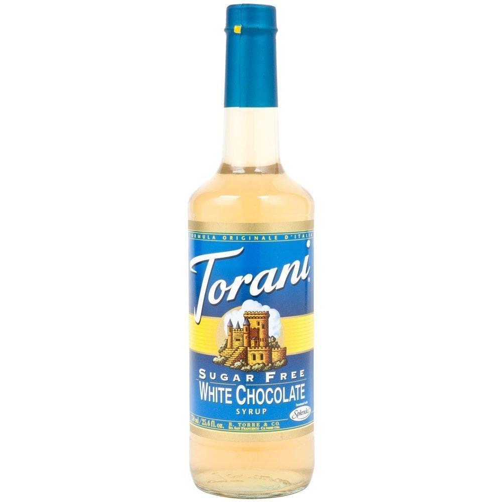 Torani Sugar Free White Chocolate Syrup with Splenda, 750 ml
