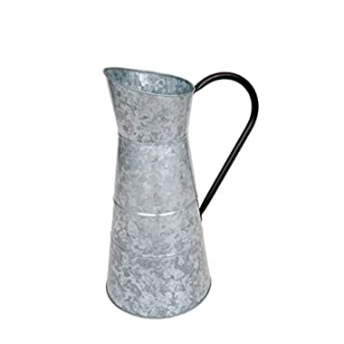 Deco 79 Metal Galvanized Watering Jug, 10 by 16-Inch