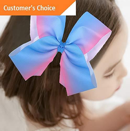 (Werrox Women Fashion Large Bowknot Hair Bow Hair Pins Clips Ribbon Hair Clip Hairband | Model HRPN - 1995)