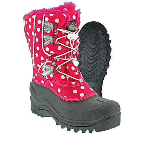 Womens Boots Itasca (Itasca Girls SNOWKICKER Polka DOT Snow Boots Pink Size 6)