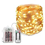 KATUMO 39ft Copper Wire 120 LEDs Fairy Starry String Lights Waterproof Decorative Indoor Outdoor Lights for Christmas Decor, Party, Landscape, Weddings, Patio, Bedroom, RV, Warm White