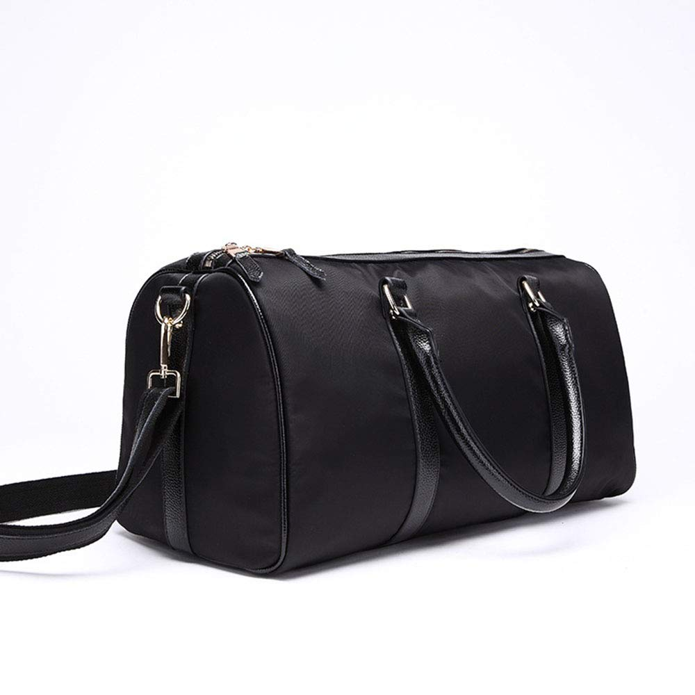 Ybriefbag Unisex Sports Travel Bag Oxford Water Repellent Drum Bag Large Capacity Duffel Bag Vacation Color : Black