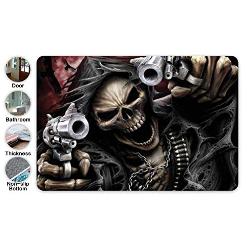 """Coototo Bathroom Shooter Assassin w/h Guns Mats Indoor Bath Rugs Anti-Skid Mat Flannel Pad Quick Dry Water Absorbent 15.7"""" X 23.5"""""""