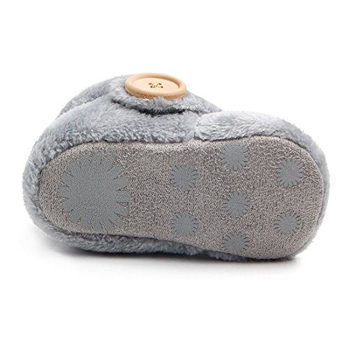 Beeliss Baby Boots Plush Warm Shoes (6-12 Months, Grey)