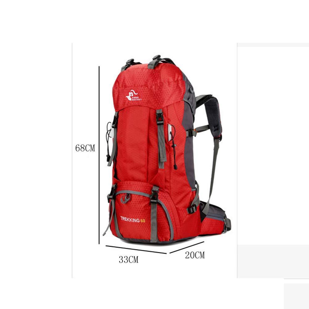 F&Y Senderismo Mochila, 60L Ligero Envasable Al Aire Libre Camping Deportes De Camping Libre Senderismo Mochila Impermeable Bolsa De Alpinismo para Viajar Trekking con Cubierta De Lluvia,Azul 2bf6f1