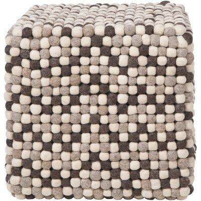 Cotton Pouf Cube Ottoman