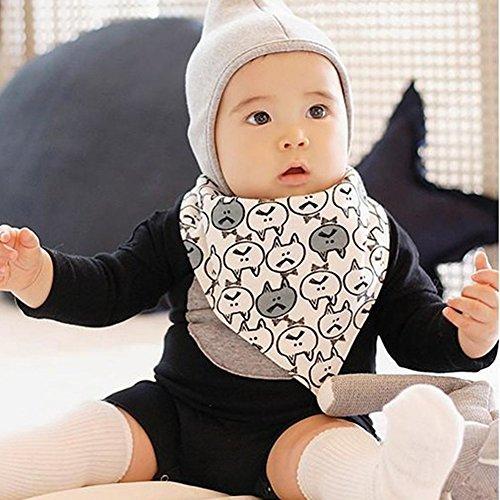Urparcel Newborn Cartoon Kids Cotton Baby Towel Saliva Waterproof Lunch Bibs