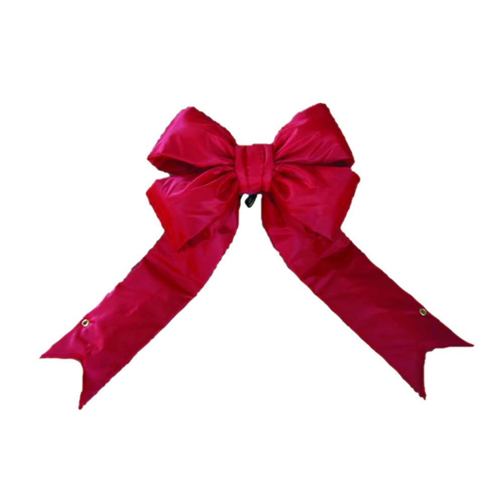 Vickerman 60'' Red Nylon Decorative Christmas Bow, Indoor and Outdoor Use