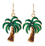 Artisan Owl - Palm Tree Tropical Dangle Earrings