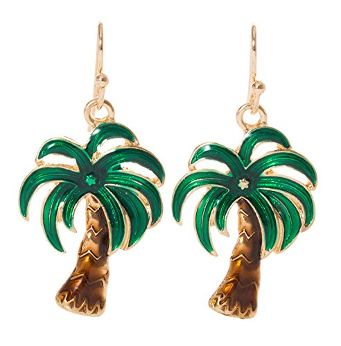 Artisan Owl - Palm Tree Tropical Dangle Earrings (Tree Palm Earrings Tropical)