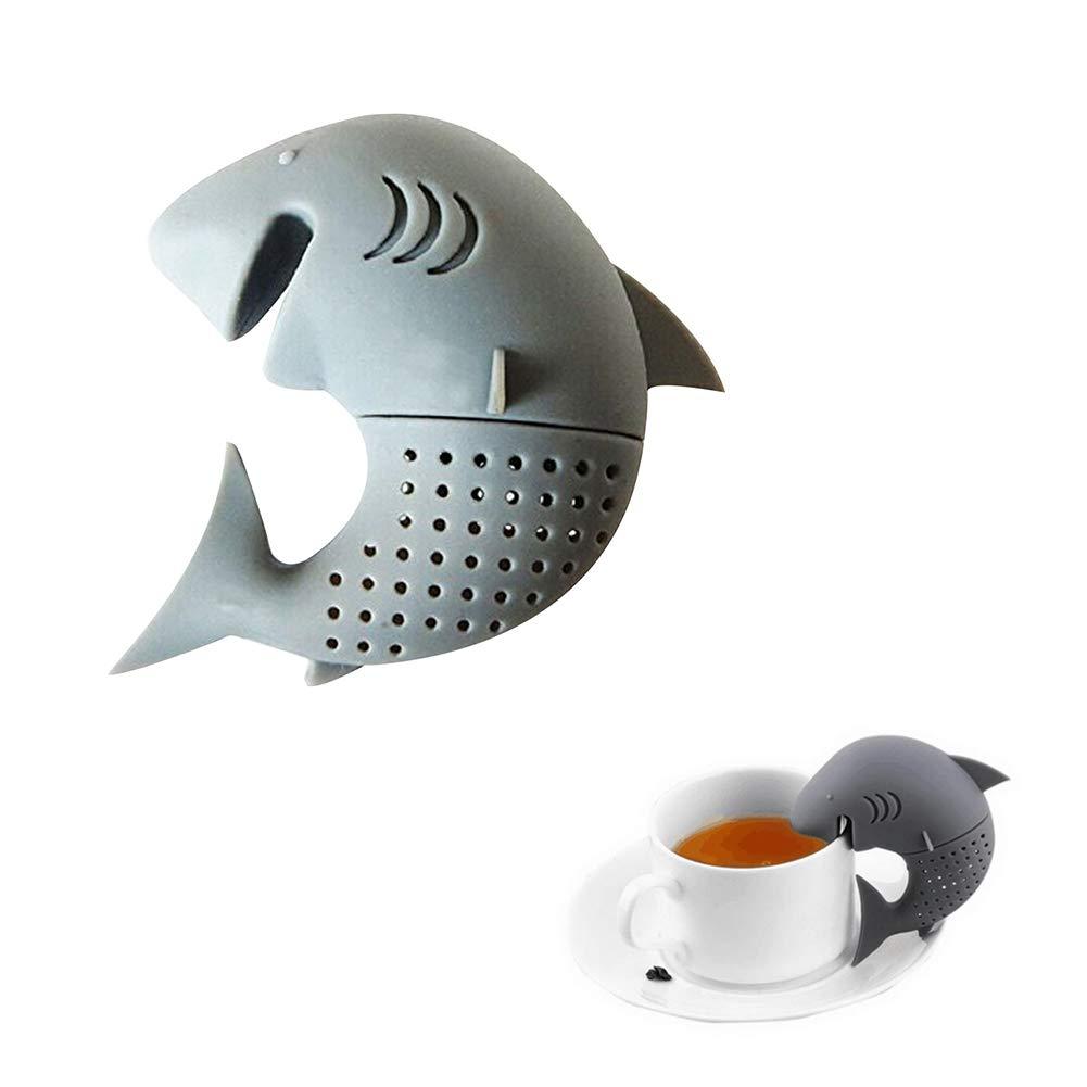 Romote mignon de requin Infuser silicone Tea Leaf Passoire /à base de plantes Spice filtre cadeau sachet de th/é