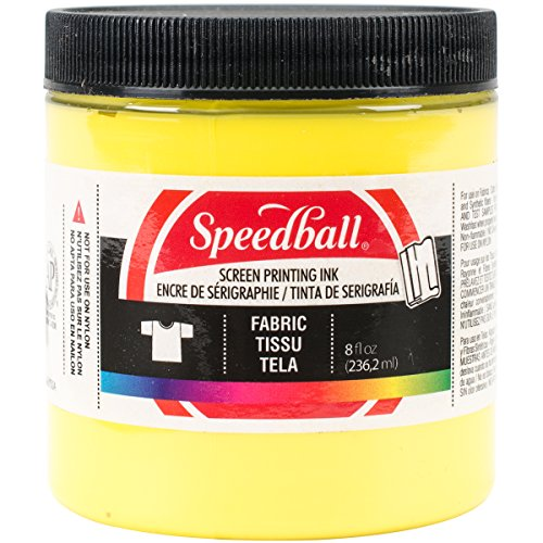 T-shirt Yellow Ink - Speedball Art Products 004565 Fabric Screen Printing Ink, 8 fl. oz, Yellow