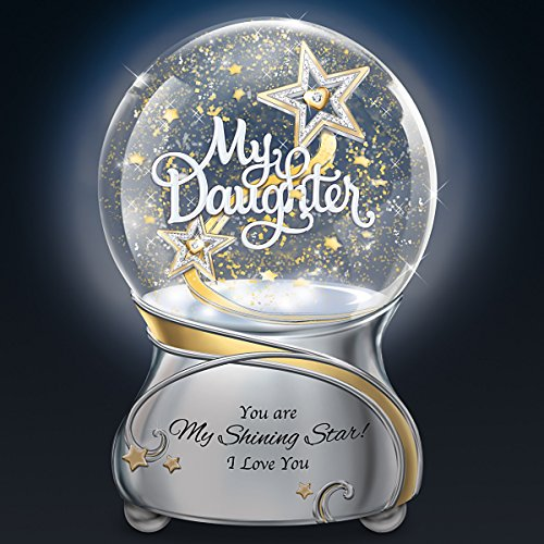 My Daughter You Are My Shining Star Illuminated Musical Glitter Globe Lights Up by The Bradford Exchange by Bradford Exchange (Image #1)